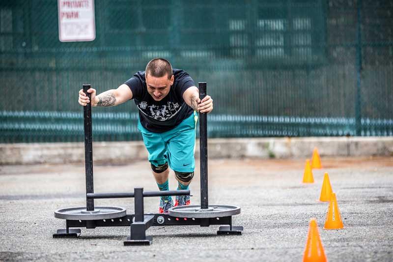 CrossFit Class Sled Push