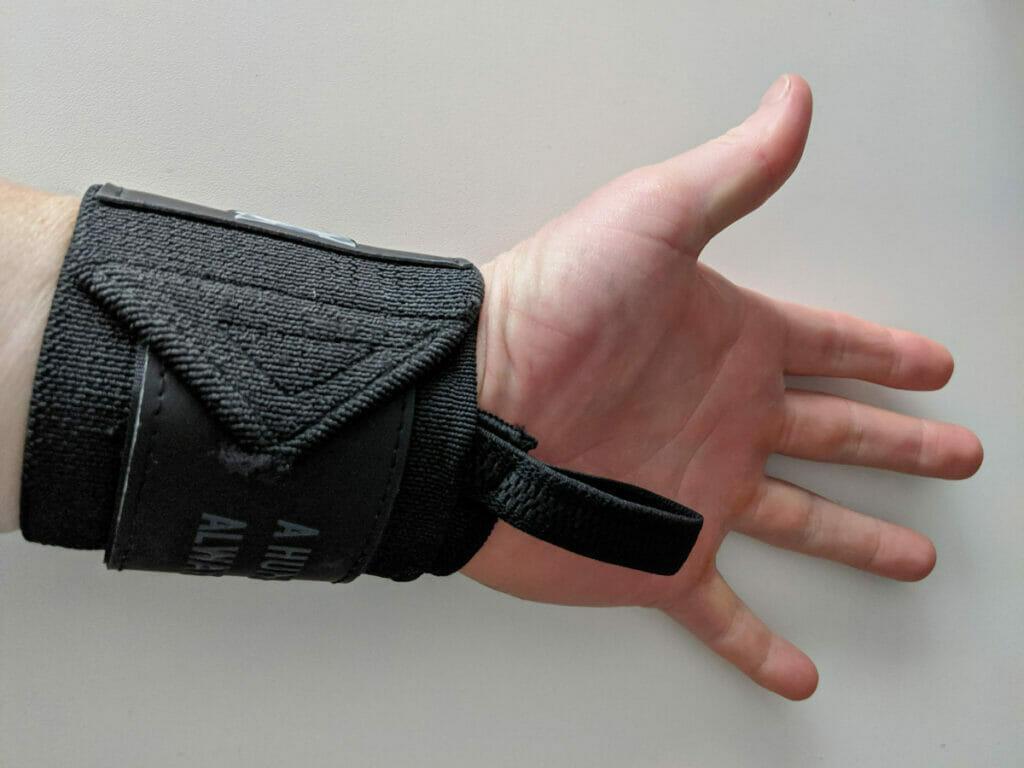 Okami Strength Wrist Wrap On Arm
