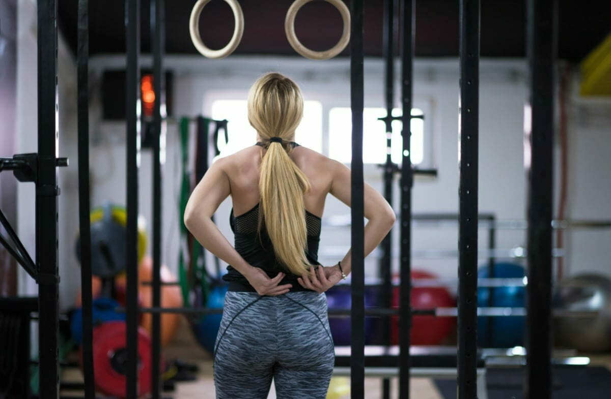 rings and bars for pull ups in crossfit box