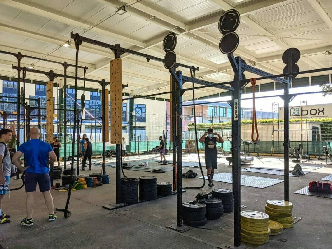 CrossFit gym interior before class