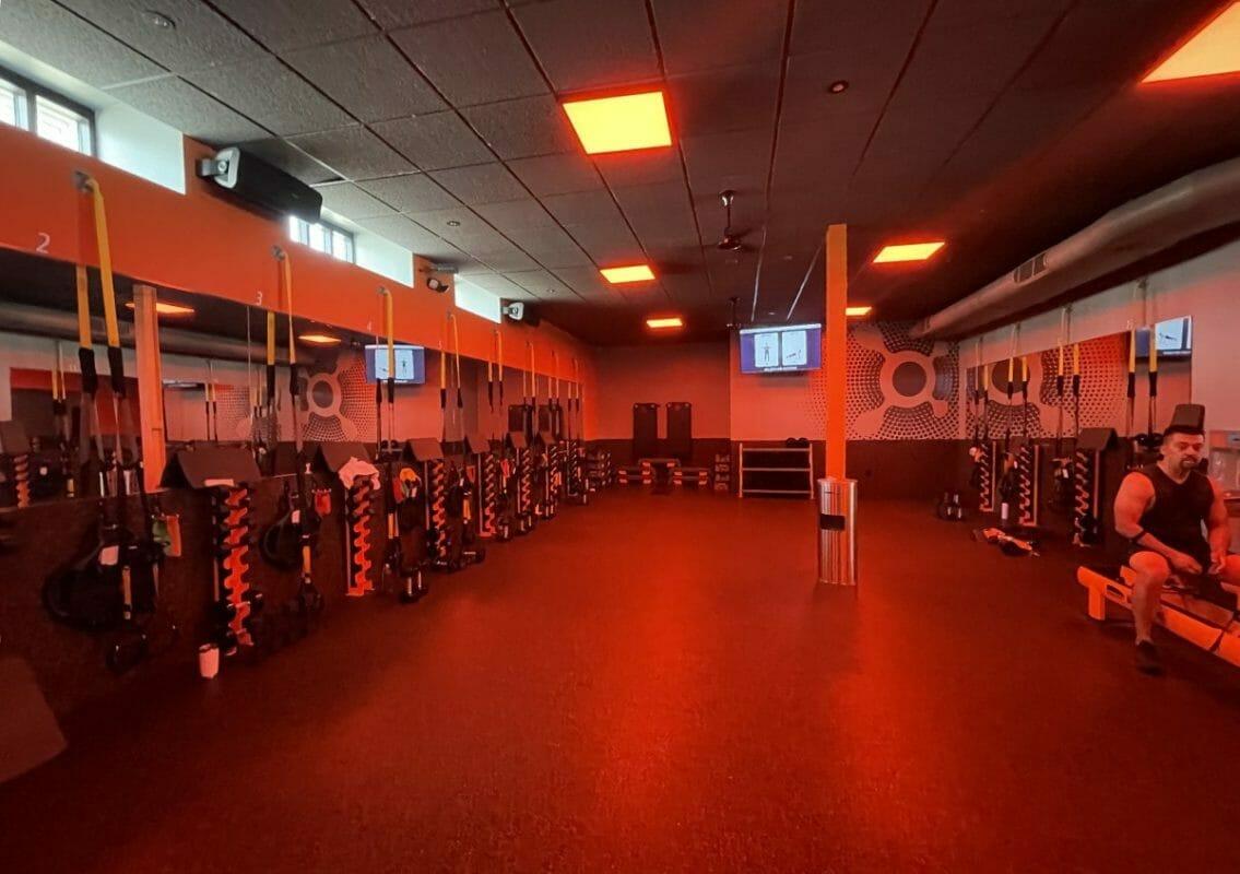 inside an Orangetheory gym