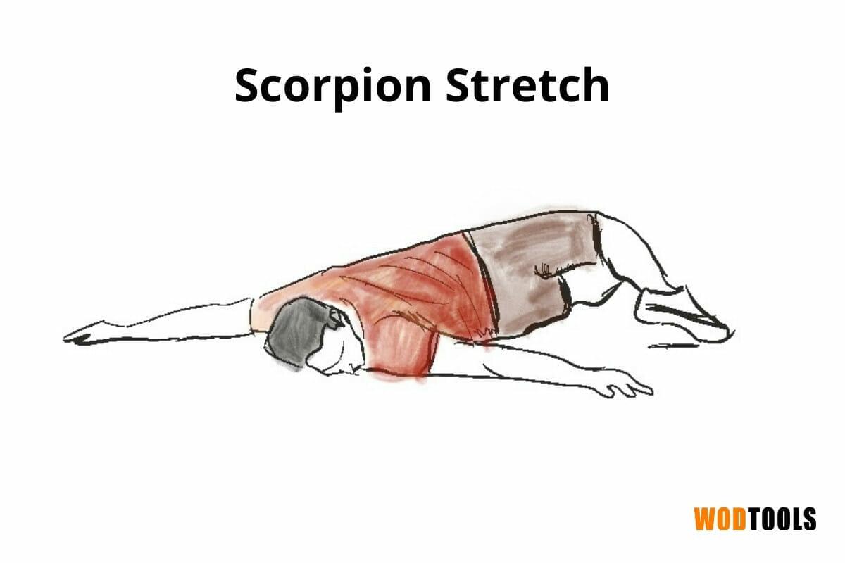 scorpion stretch