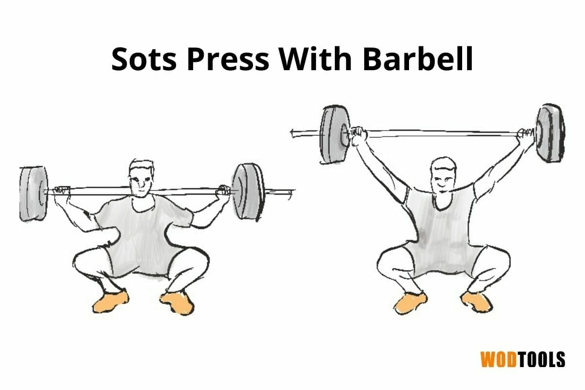 sots press mobility drill with barbell