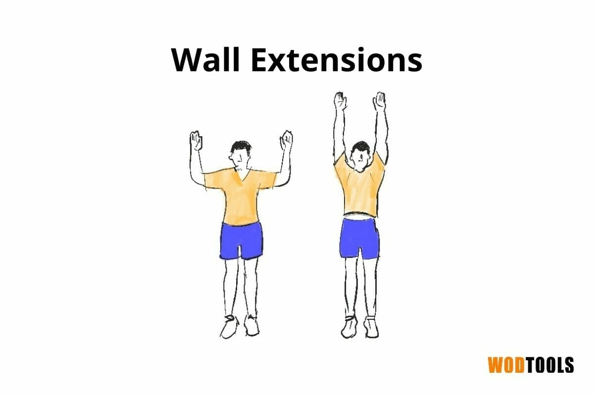 wall extensions mobility exercise